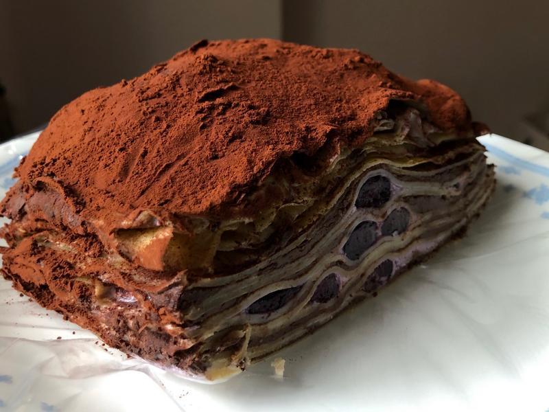 黑巧克力藍莓優格千層