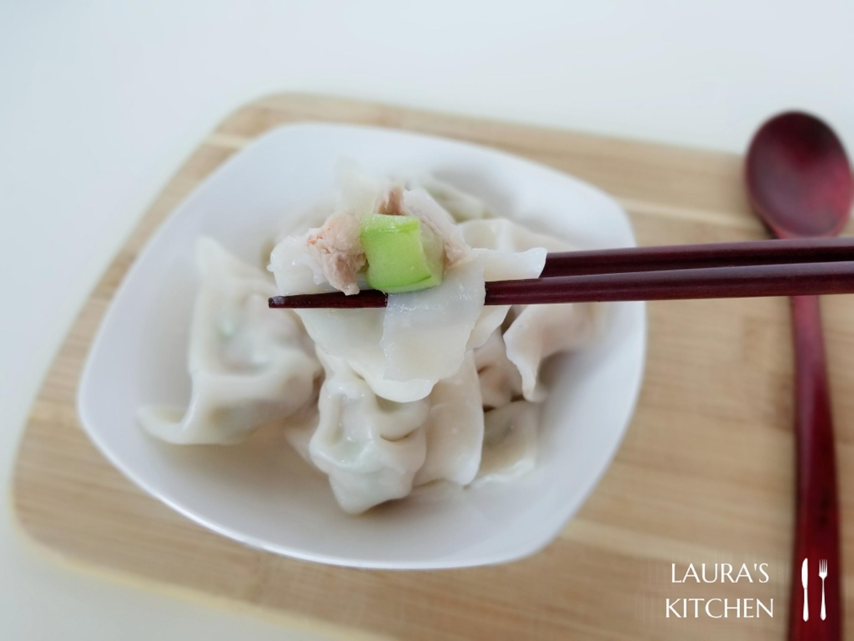 鮮甜多汁的絲瓜鮮蝦水餃