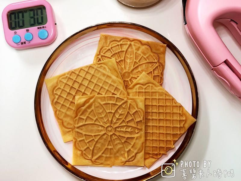 低醣生酮無糖花生醬千張蕾絲餅乾小v鬆餅機
