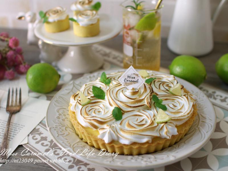玫瑰檸檬塔&義大利蛋白霜作法