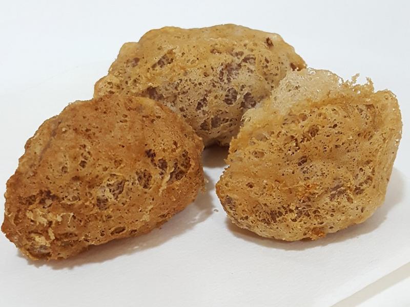 蜂巢蛋黃芋泥餃