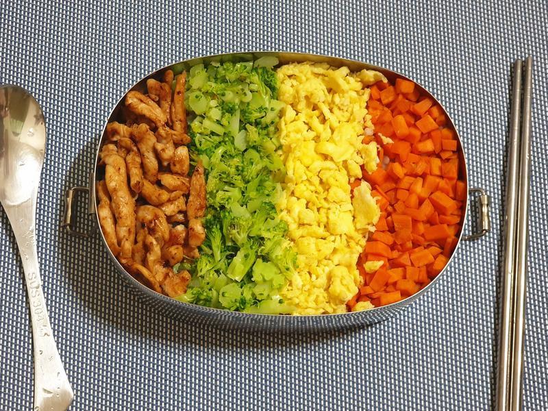 【日式便當】雞肉四色飯