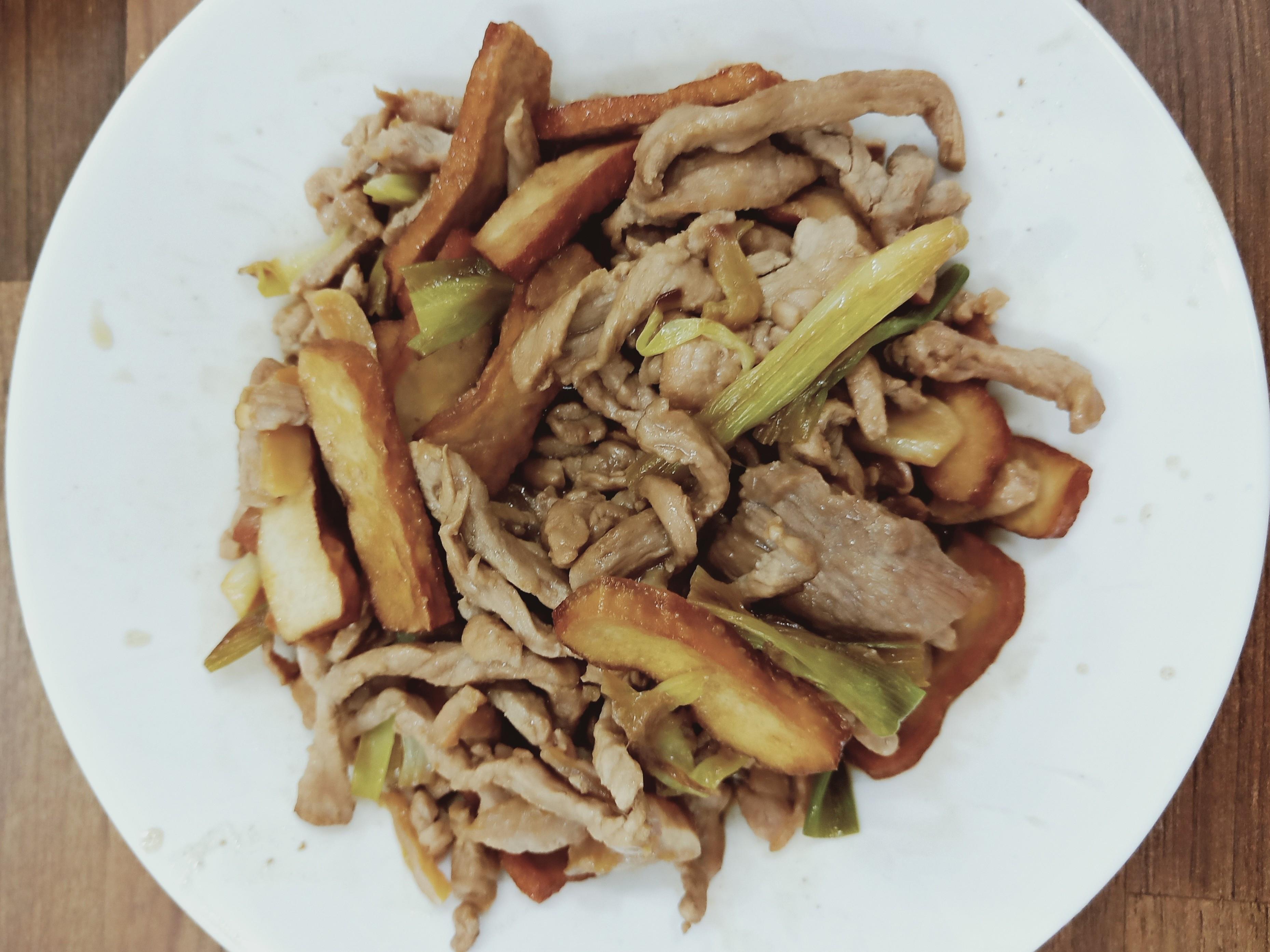 豆干炒豬肉