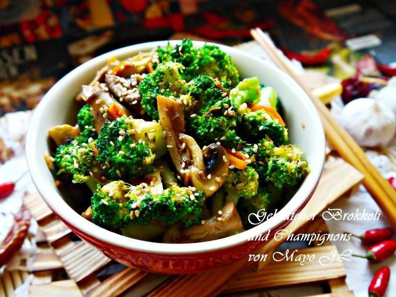炒蘑菇花椰菜