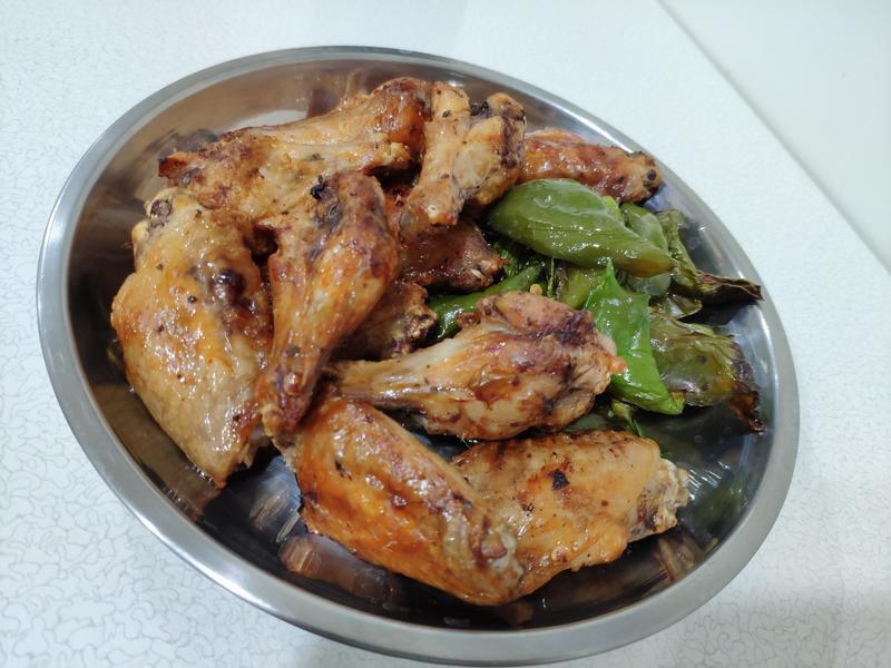 氣炸料理-雞翅青椒