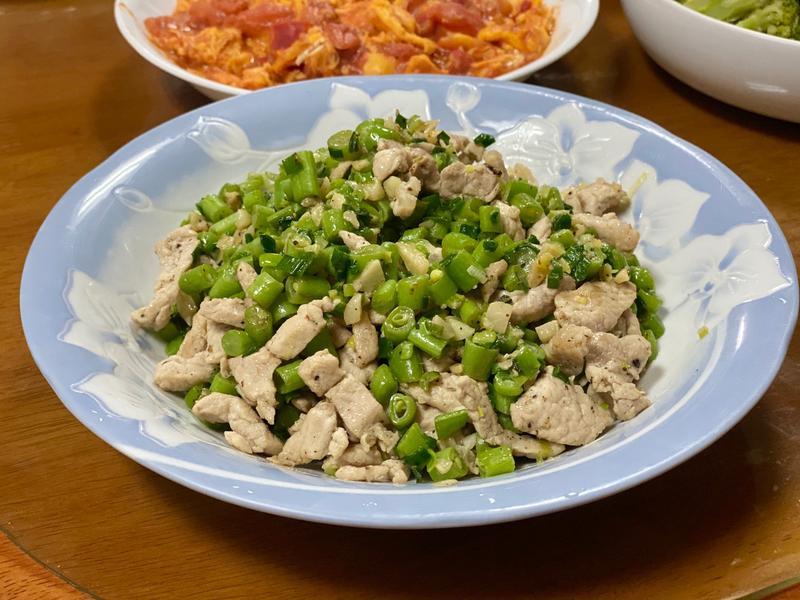 蔥爆四季豆炒肉絲