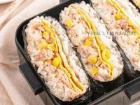 鮪魚玉米蛋沙拉免捏飯糰【野餐便當菜】