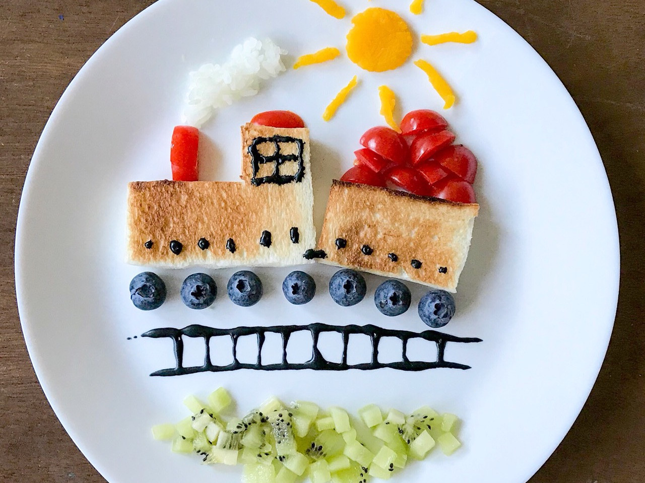 早餐吃什麼:小火車造型兒童餐