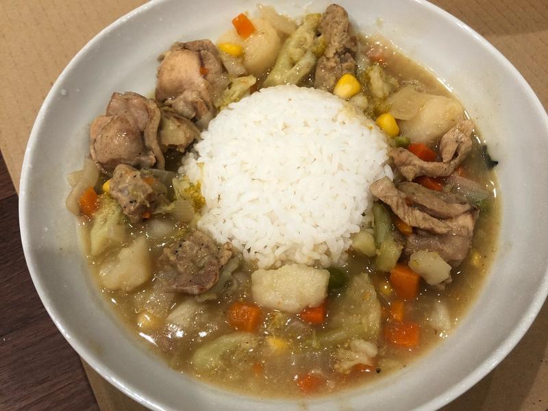 什蔬雞肉咖哩飯【入味濃稠】
