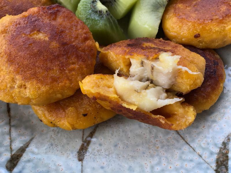 地瓜煎餅包香蕉片