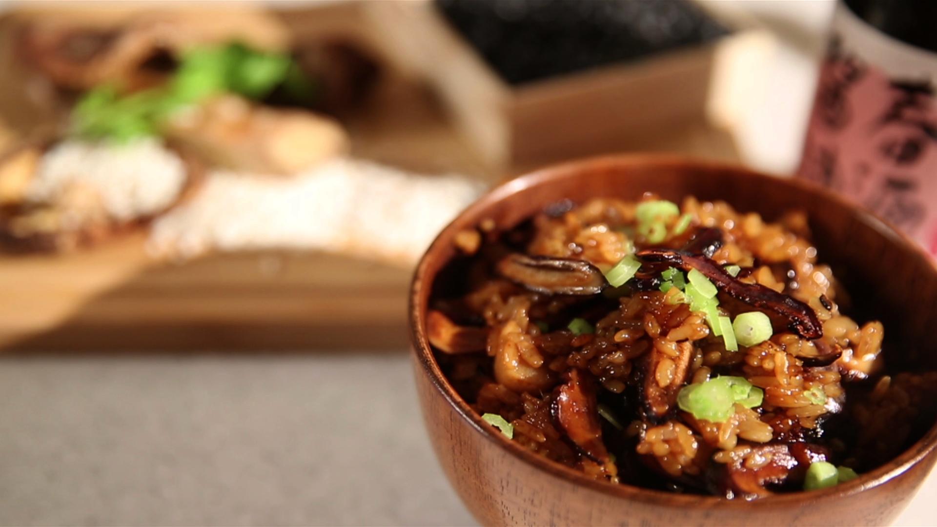 香菇麻油飯-豆油伯春源醬油