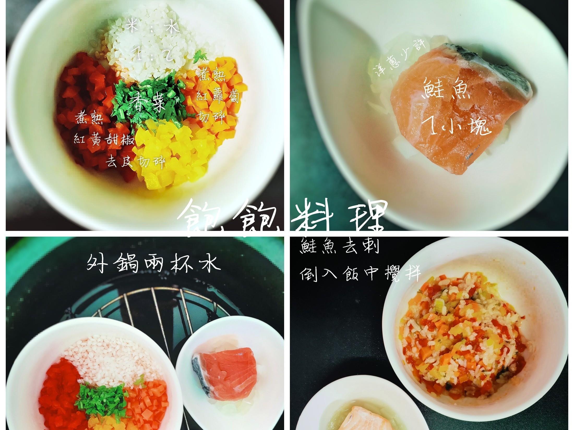 寶寶副食品-彩椒鮭魚粥