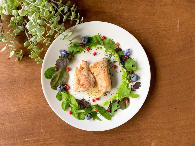 早餐吃什麼?減醣一下吃煎鯛魚吧