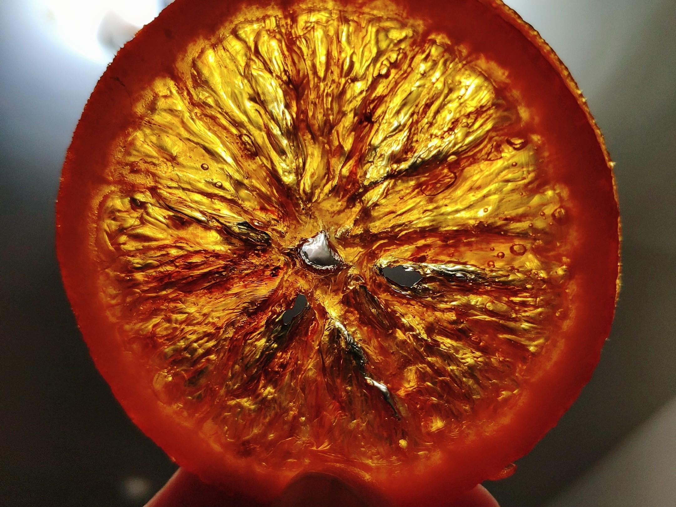 晶瑩剔透的~橙片~
