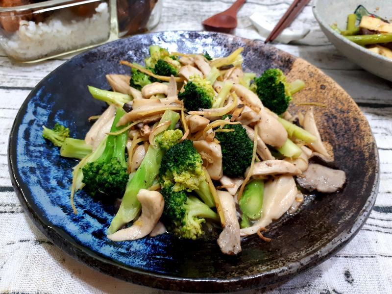 黑蠔菇炒花椰菜