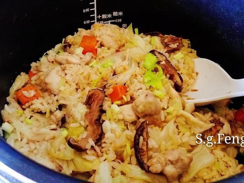 雞肉高麗菜飯【飛利浦智慧萬用電子鍋】