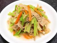 芹菜炒炸豆皮~全素