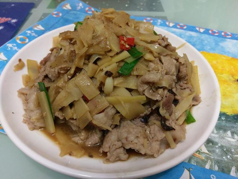 筍片炒豬肉