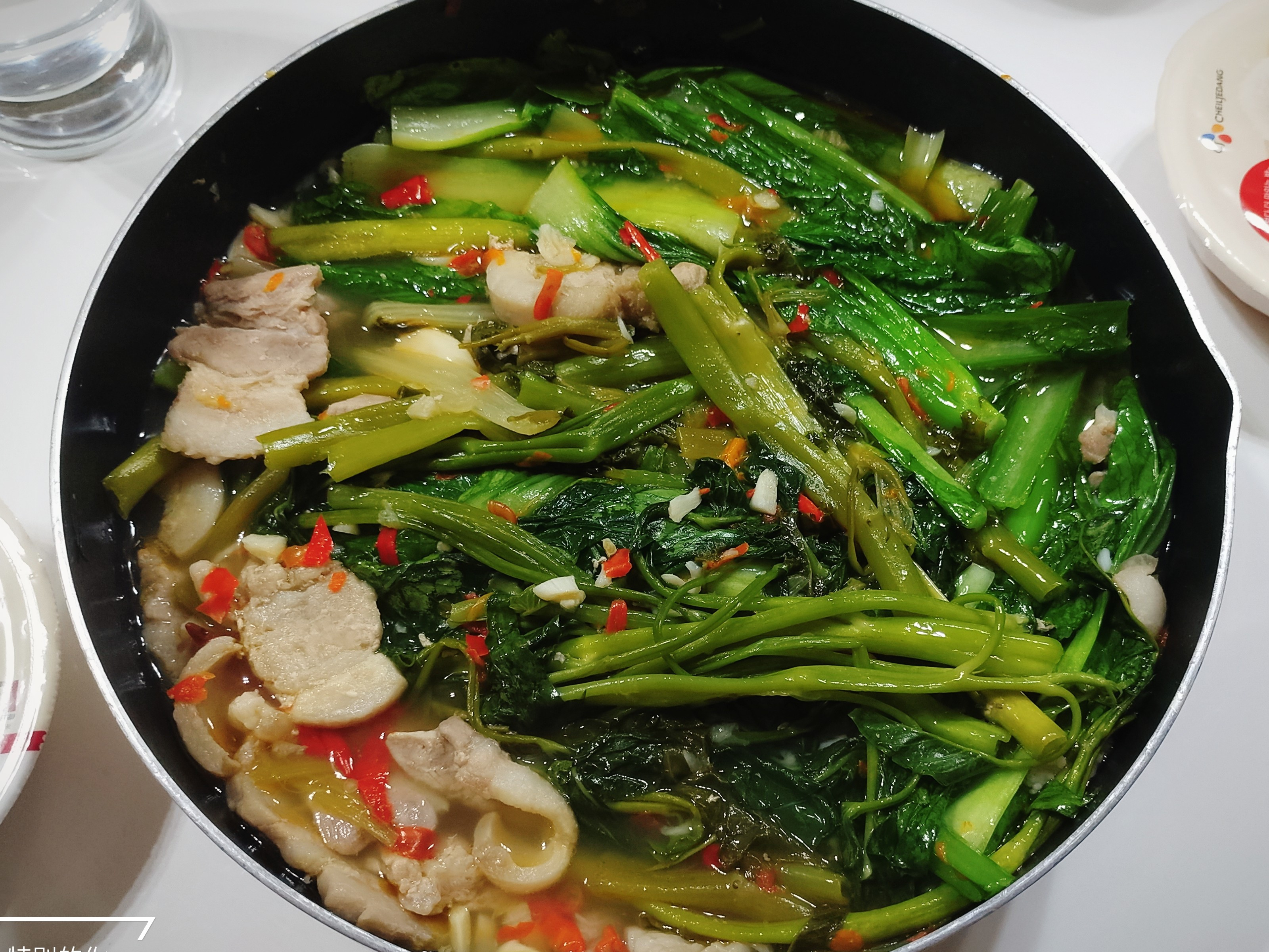 薑辣豬肉青菜鍋