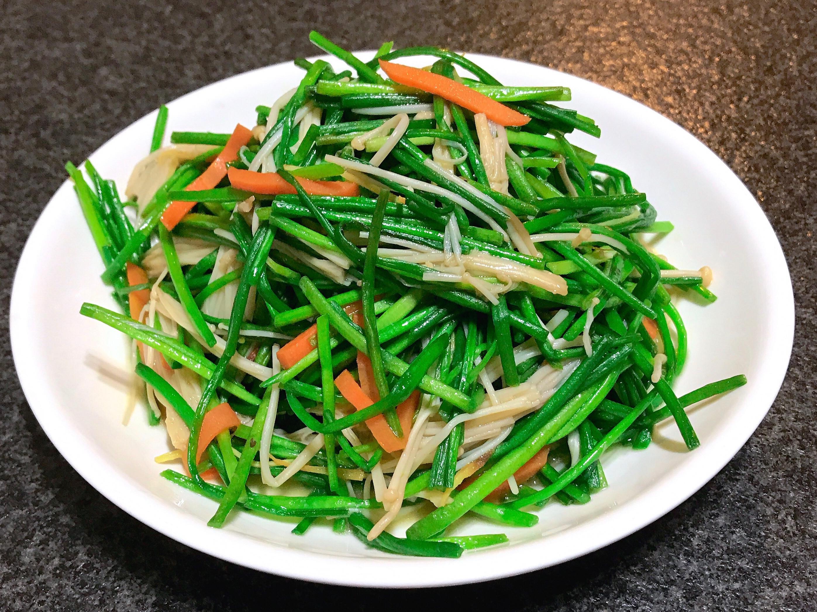 水蓮炒金針菇~全素