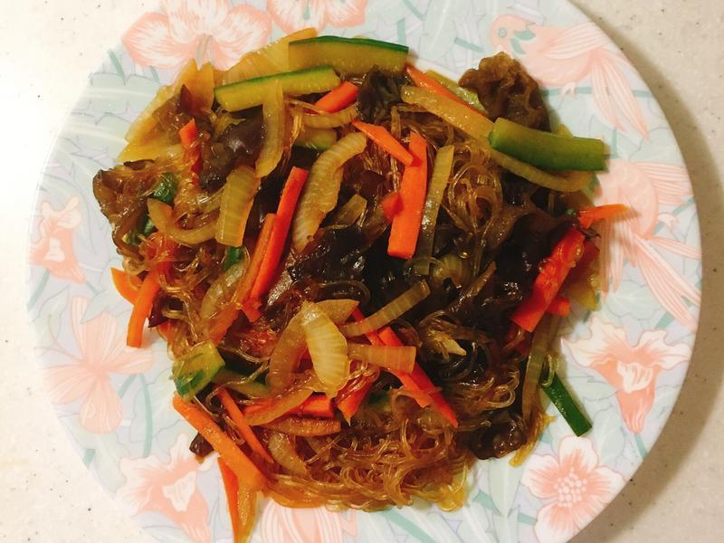 雜菜炒冬粉