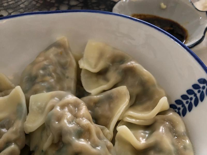 青菜雞蛋素水餃