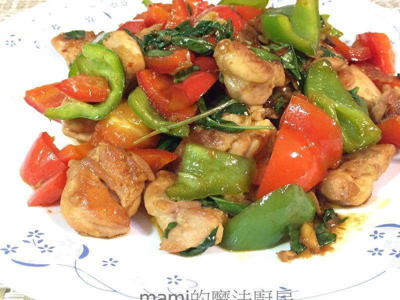 魚香彩椒雞腿肉