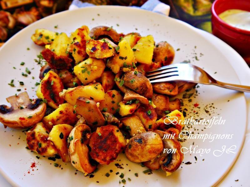 蘑菇佐馬鈴薯片