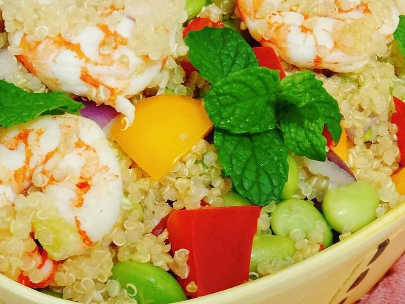 簡易輕食-毛豆藜麥鮮蝦沙拉