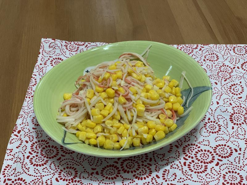 玉米炒蟹味棒