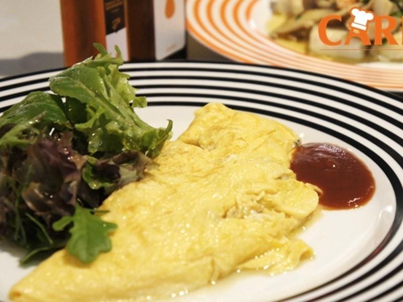 [薇達樂料理]鮮蝦野菇起士法式蛋捲