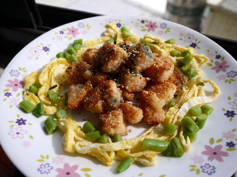 骰子味噌鮭魚-便當菜