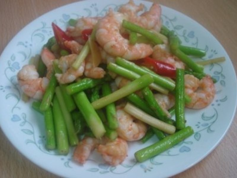 均媽的料理廚房~蘆筍炒蝦仁