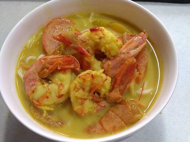 椰香天使蝦湯麵