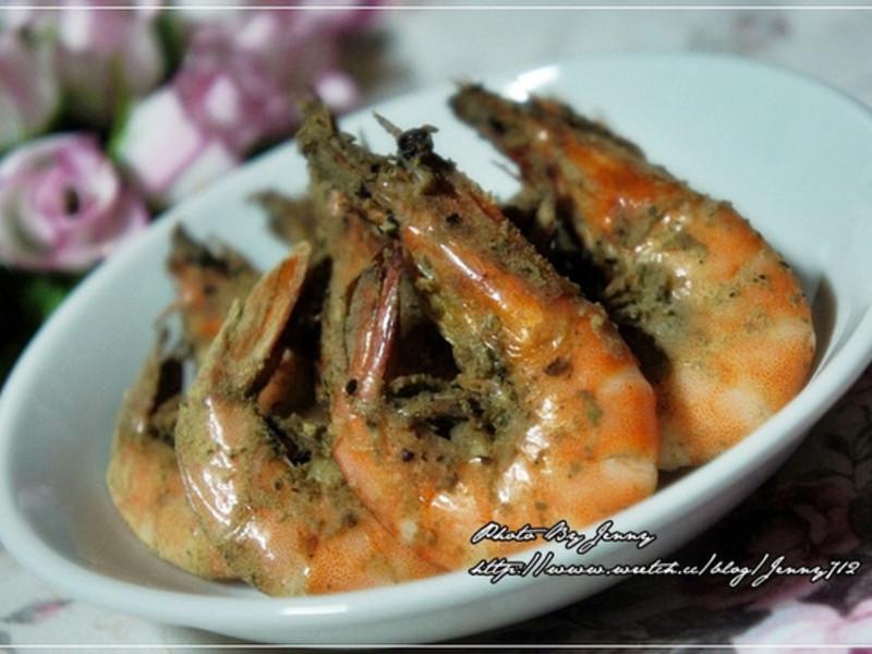 十分鐘上桌‧懶人烤箱版胡椒蝦
