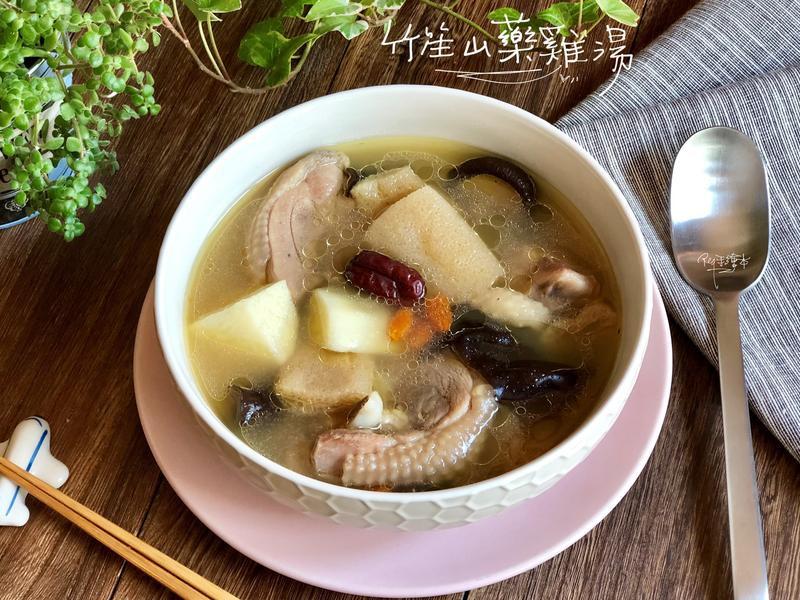 竹笙山藥雞湯-手繪食譜