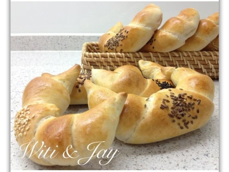 [Witi✿Kitchen](麵包機-麵包)裸麥牛角麵包