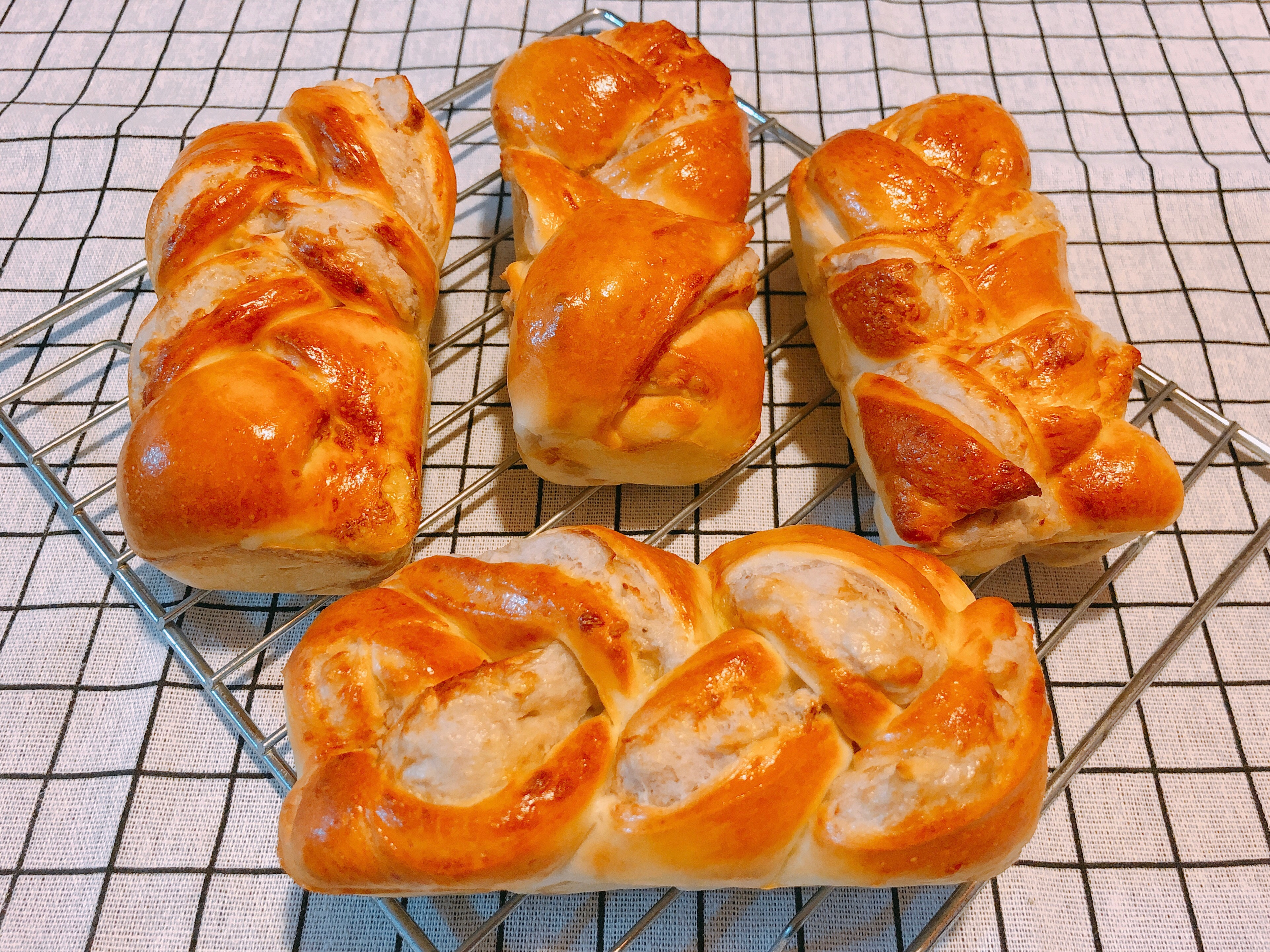 氣炸鍋料理-芋泥麵包