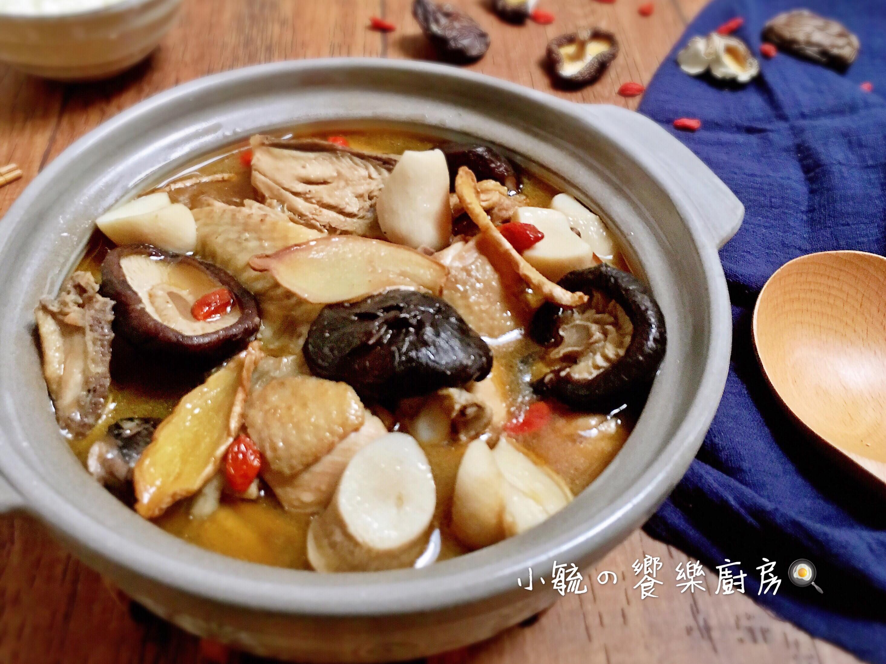 麻油菇菇雞湯