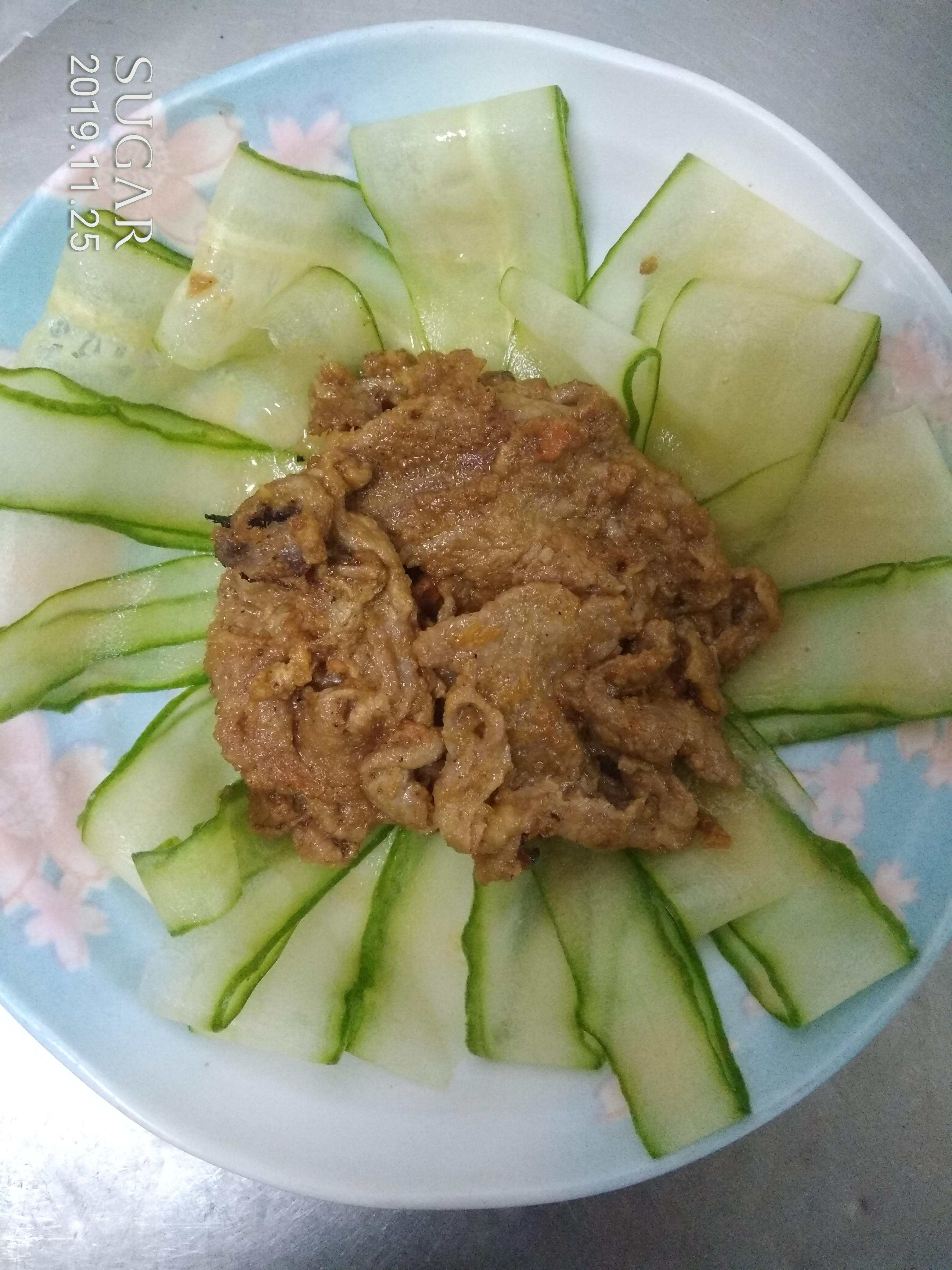 南瓜優格牛肉片