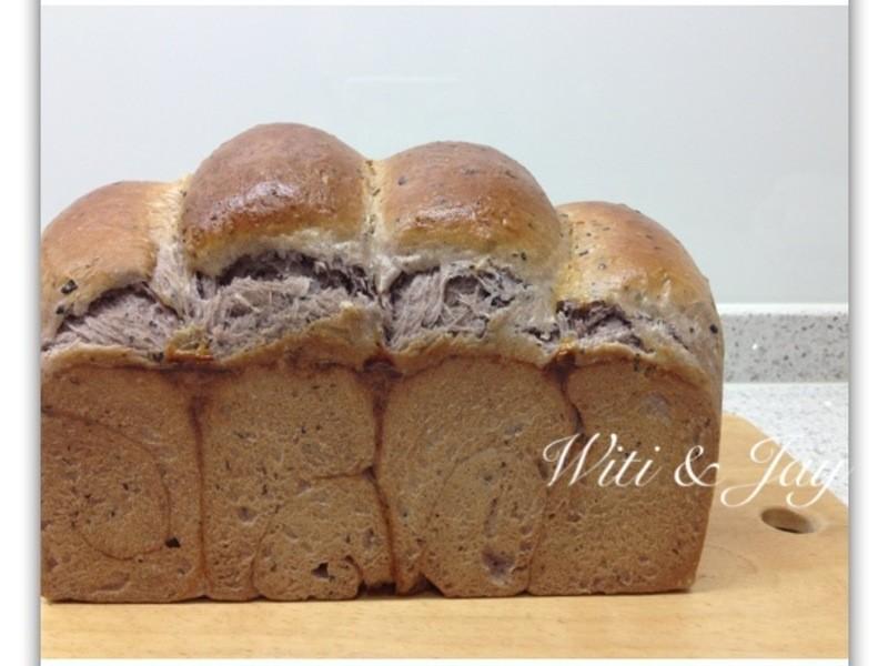 [Witi✿Kitchen](麵包機-麵包)紫米紅豆山峰土司