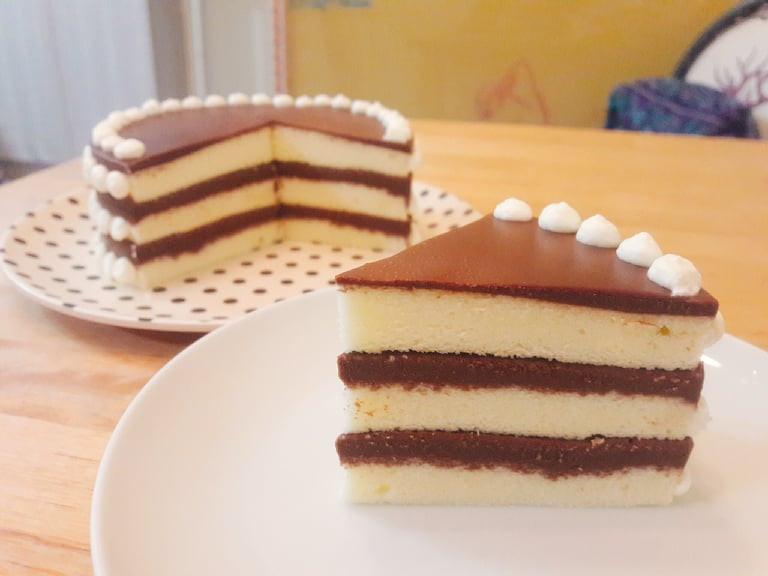 三層巧克力慕斯蛋糕(免烤箱)