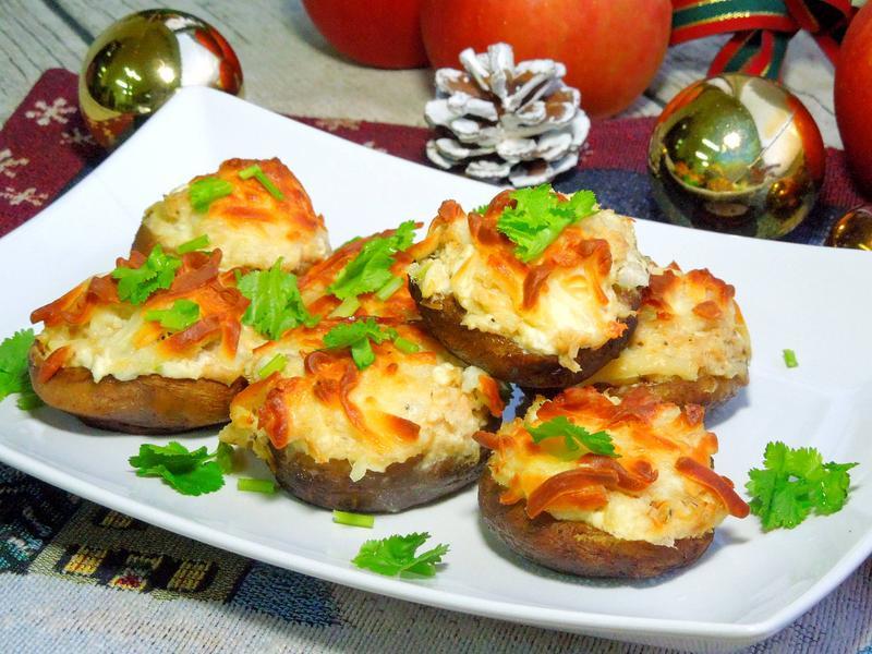 鮪魚起司鑲香菇派對小食