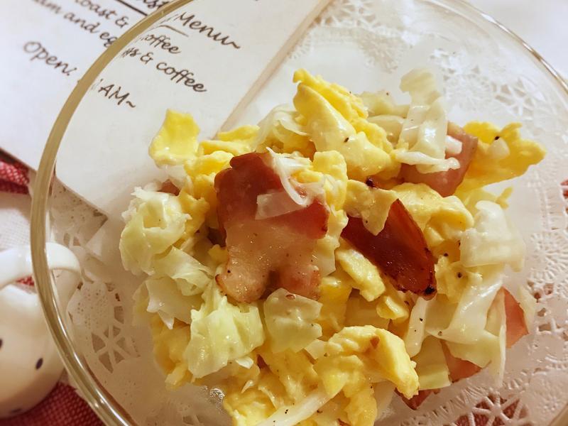 高麗菜培根蛋溫沙拉 (露營OK)
