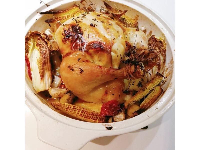 陶鍋料理 <雞肉> 奶油陶鍋烤雞