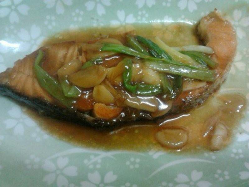 Y芬的小廚房--橙汁燒鮭魚