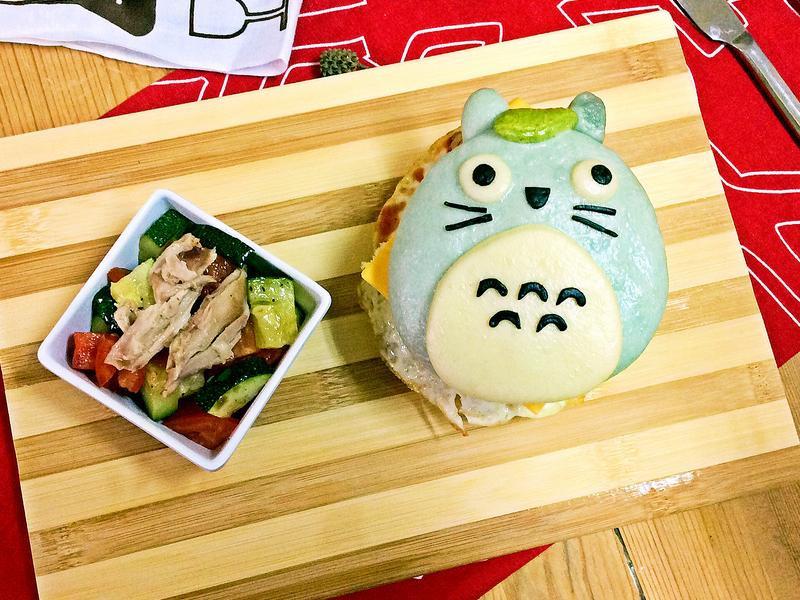 龍貓烤雞漢堡包