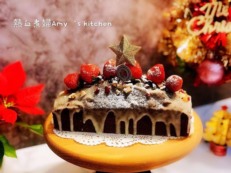 耶誕限定版~巧克力纖果草莓糖霜蛋糕