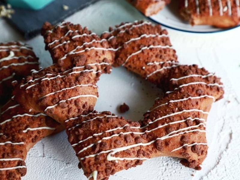 [聖誕節特輯] 巧克力星星麵包