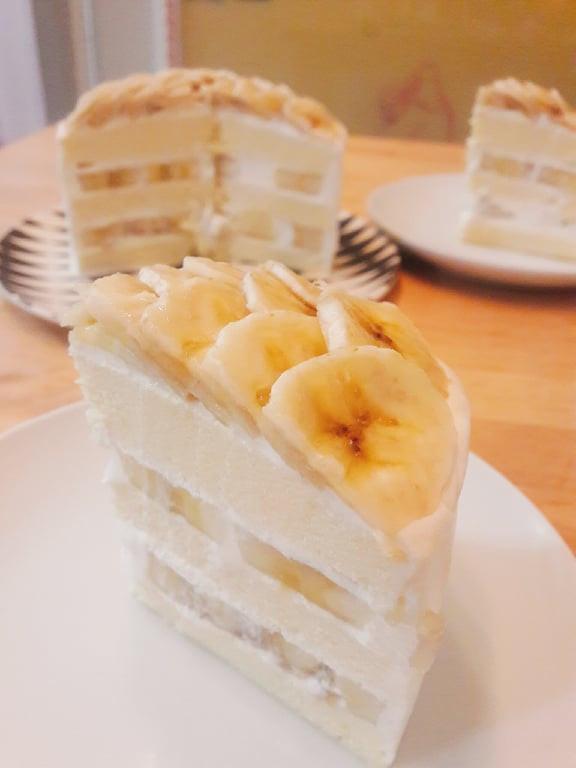 香蕉蜂蜜蛋糕(免烤箱)